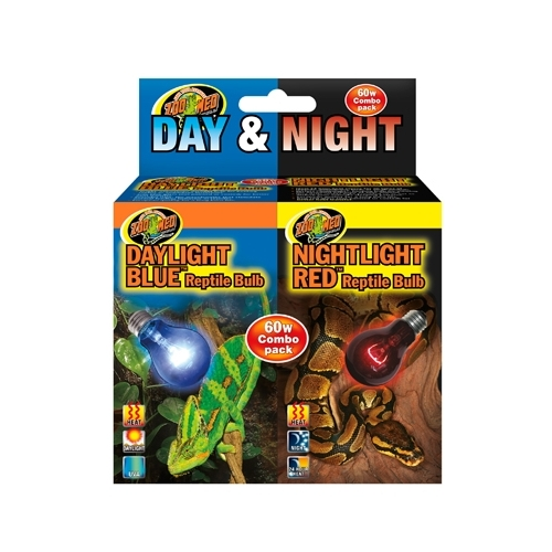 LAMPE DAY & NIGHT REPTILE BULB COMBO PACK 60W-----
