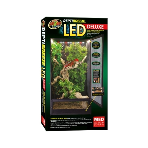TERRARIUM REPTIBREEZE LED DELUXE MED  ZOOMED