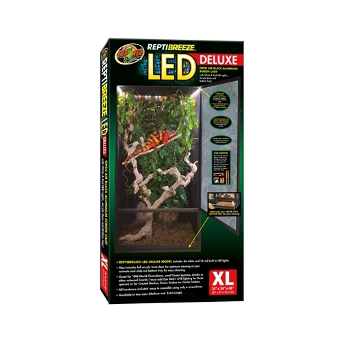 TERRARIUM REPTIBREEZE LED DELUXE XLG  ZOOMED