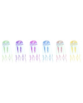 LOT FLUO REEF JELLY FISH  5x16,5cm  6pc