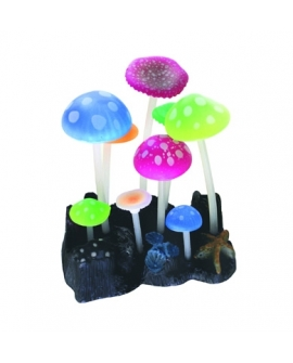 FLUO REEF MUSHROOMS 9,8x7,5x11cm