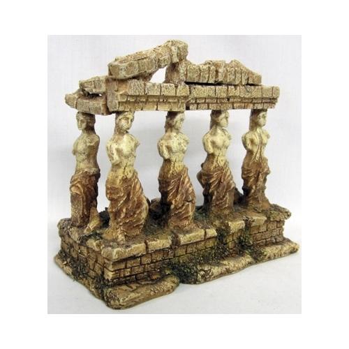GREEK TEMPLE W/GODDESS S 15,4x8x13,8cm