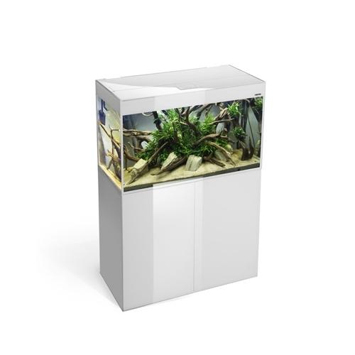 *AQUARIUM GLOSSY 100 BLANC led 2x16w 100x40x63cm 215L(sur cde)