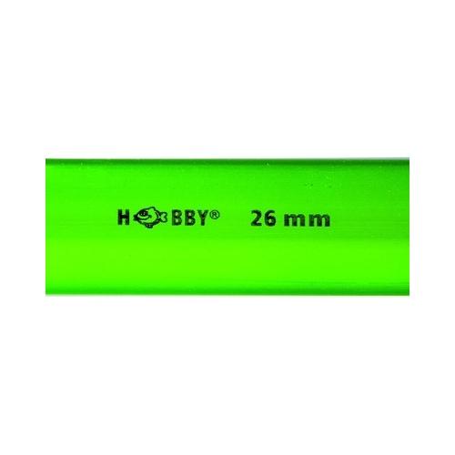 TUBE rigide vert  26mm extérieur  1m HOBBY