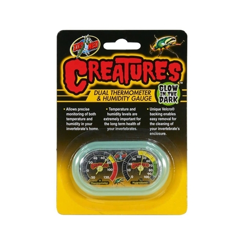 Creatures Dual Thermometre & Hygrometre Gauge  Zoomed