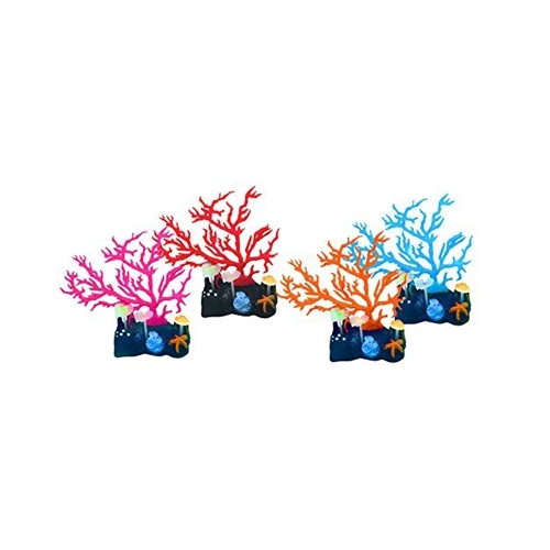 LOT FLUO REEF CORAL  4pc