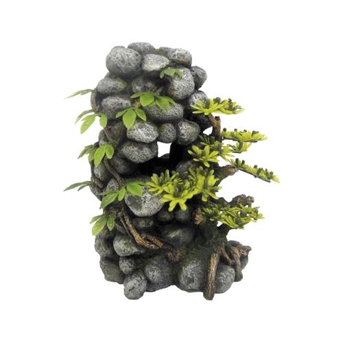 JAPAN PIERRES AVEC PLANTES 14x13x19cm