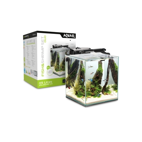 AQUARIUM FISH & SHRIMP SET DUO 35 NOIR  49L